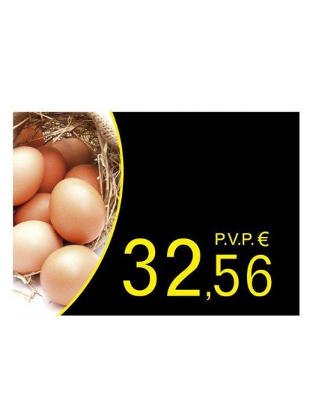PortaPrecios Huevos modelo OLMO para ROTULADOR