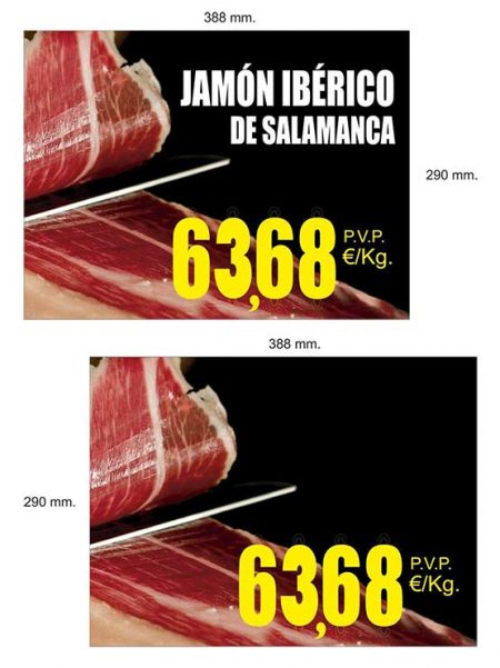 Cartel Jamón grande de pared
