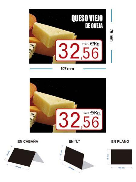 Portaprecios queso modelo OLMO