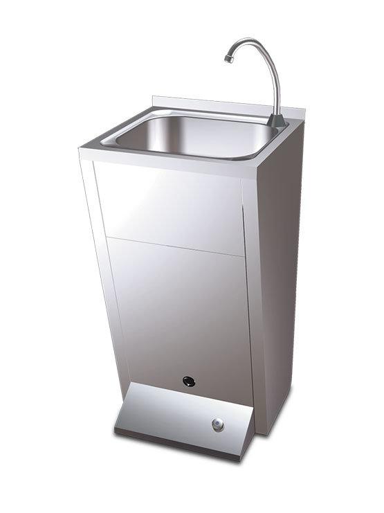 Lavamanos registrable con pedestal fabricado en acero for Lavamanos con pedestal