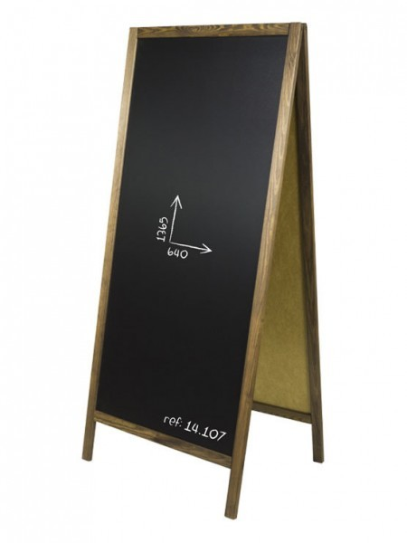 Pizarra Negra Tiza Doble Grande 1365 x 640 mm
