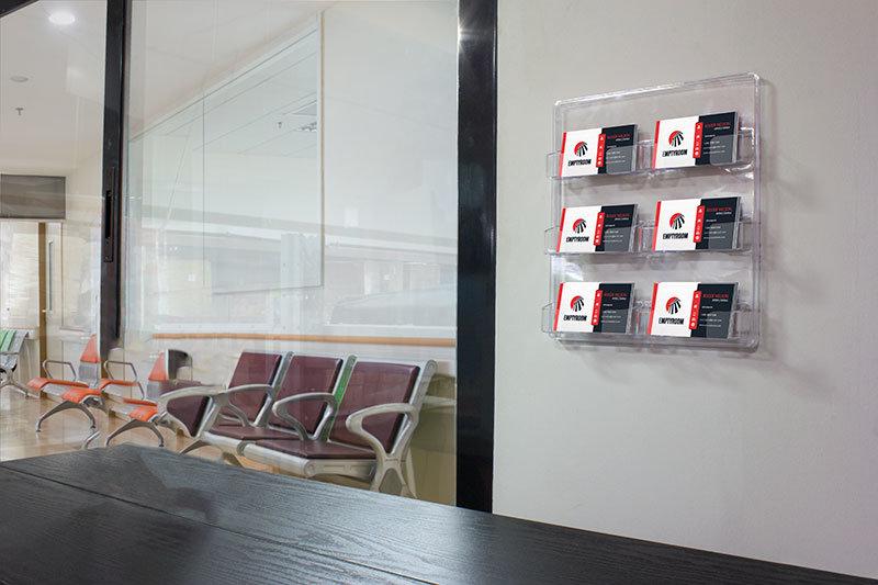 Expositor tarjetas de visita para pared acr lico transparente 6 unidades - Pared de metacrilato ...