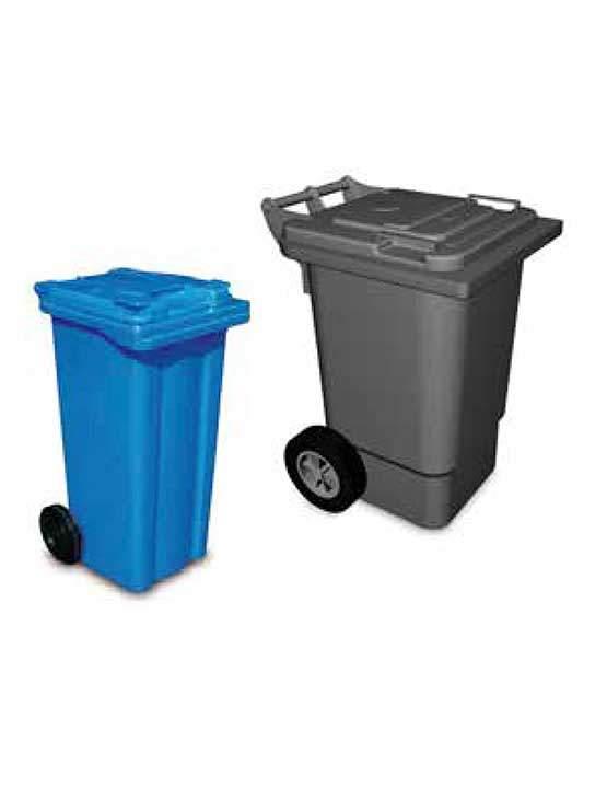 cubos de basura con tapa y ruedas contenedores de