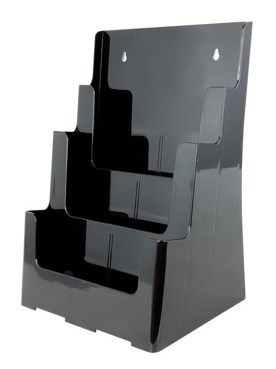 dispensador de folletos negro para colgar caja de 2 y 4