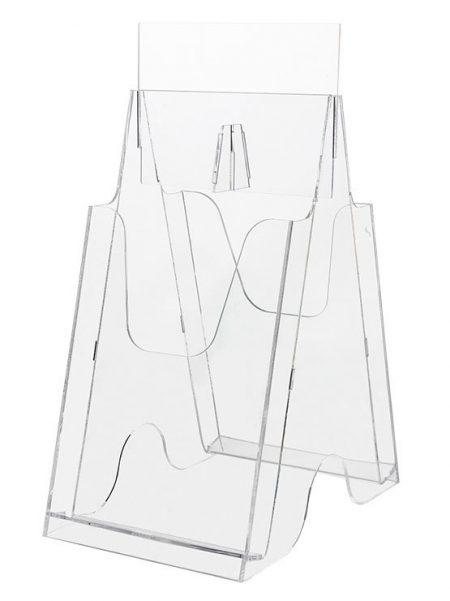 Expositor de Folletos Plástico Transparente (caja de 2 y 4 unidades)