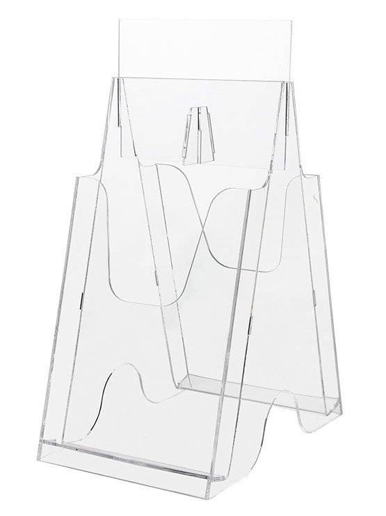 Expositor de Folletos Plástico Transparente doble