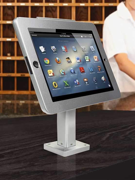 Soporte fijo para tablet para instalar en paredes mesas mostradores - Soporte para tablet ...