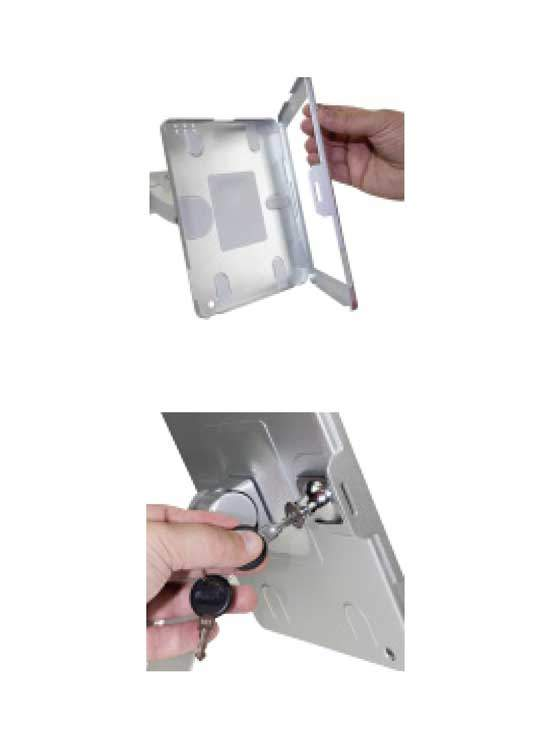 Soporte fijo para tablet para instalar en paredes mesas for Soporte tablet pared