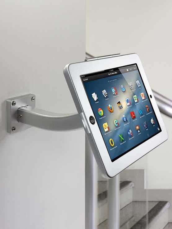 Soporte fijo para tablet para instalar en paredes mesas - Soporte para tablet ...