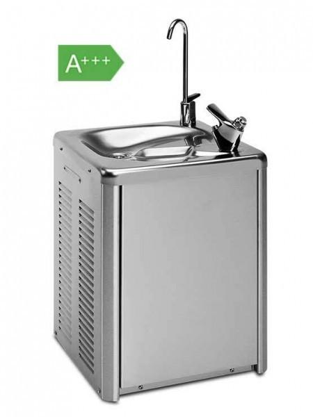 Fuentes de Agua Fría Fabricada en acero inoxidable. Sistema patentado SIN DEPÓSITO DE AGUA, evitando, acumulación de bacterias, mantenimiento por fugas de agua, rotura de flotadores etc.