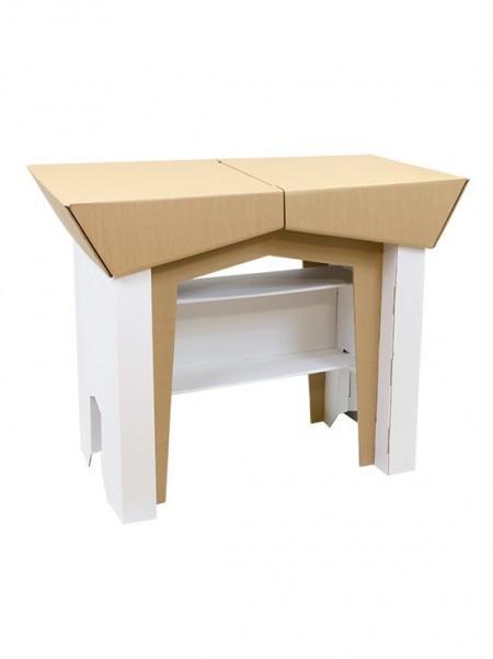 Mesa mostrador robusto de cartón