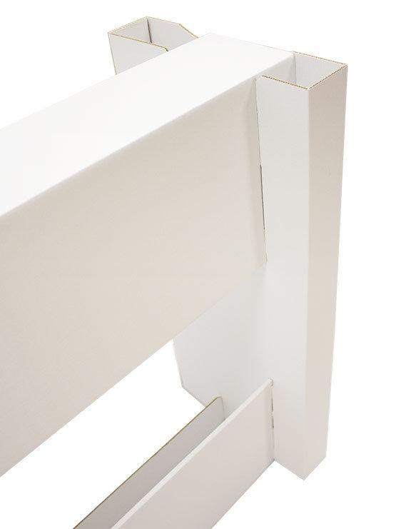 Mostrador mesa de cart n que se ensambla en menos de 5 - Mesas de carton ...