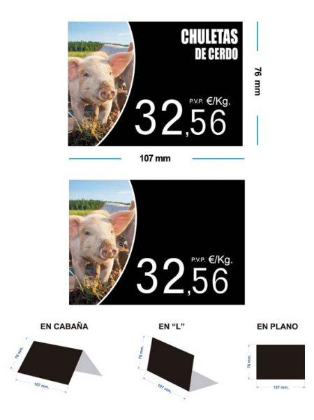 Portaprecios cerdo modelo olmo