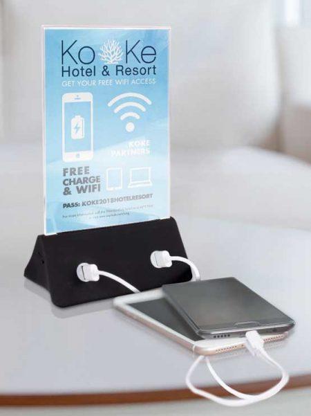 Cargador de móviles con display