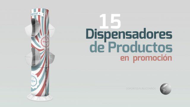 Dispensadores de productos en promoción