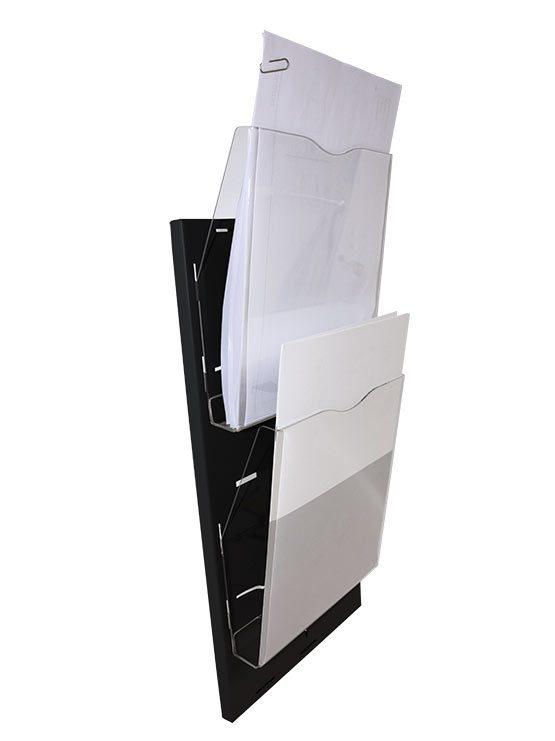 Porta folletos de pared