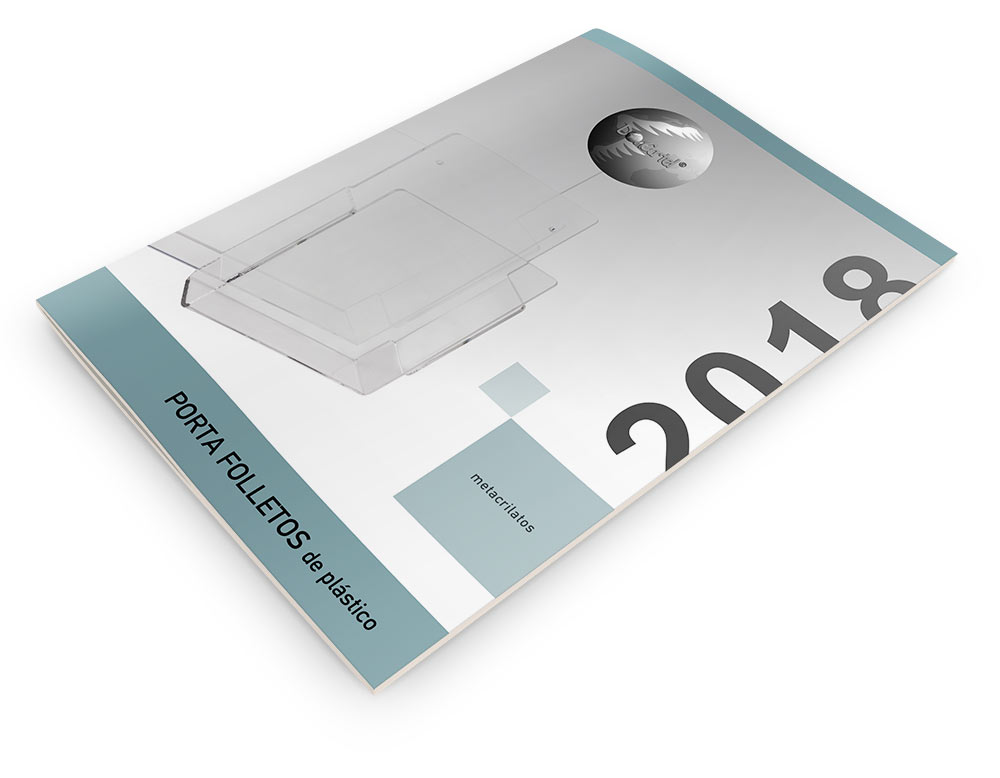 Porta Folletos de Plástico Catálogo 2018
