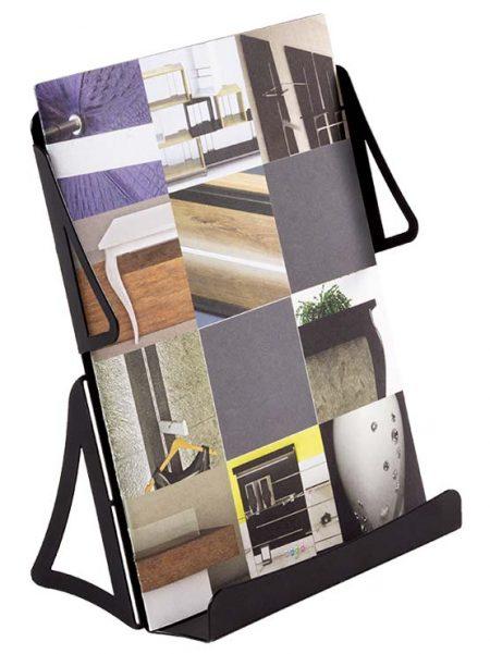 Porta folletos metálico desmontable (4 unidades)
