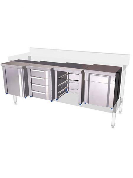 Boxes modulares para mesas y estanterías