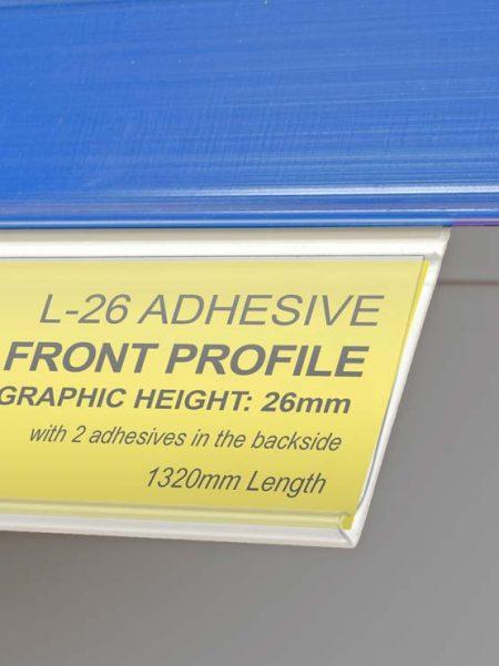Extensión adhesiva para perfil (25 unidades)
